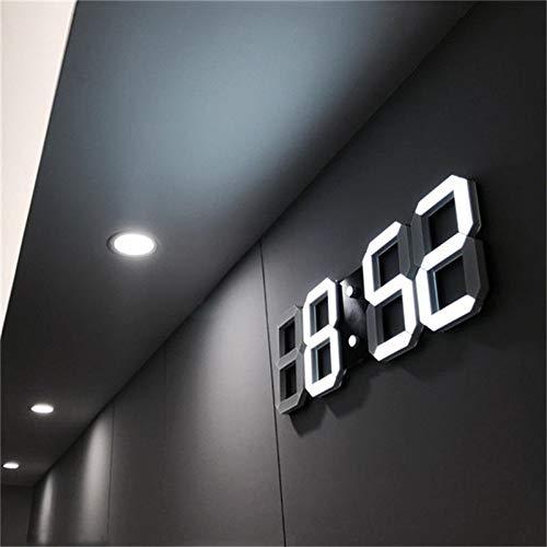 thumbgeek 3D LED Wall Clock Modern Digital Alarm Clocks Display Home Kitchen Office Table Desk Night Wall Clock 24 or 12 Hour Display