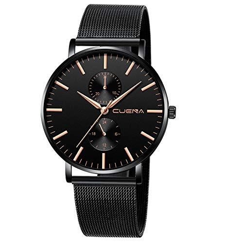 xiaoxioaguo negro 3bar reloj hombres y mujeres relojes