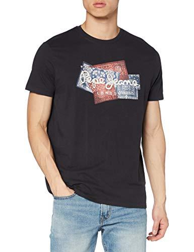 Pepe Jeans Benjamin Camiseta, Azul (985), X-Small para Hombre