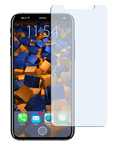 mumbi Hart Glas Folie kompatibel mit iPhone X Panzerfolie, iPhone XS Panzerfolie, Schutzfolie Schutzglas (1x)
