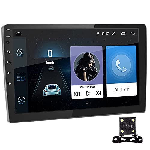 PolarLander Autoradio 9 Pollici Sistema Android Stereo 2.5D Schermo Capacitivo Bluetooth WiFi GPS Quad Core SWC FM BT USB con Telecamera Posteriore