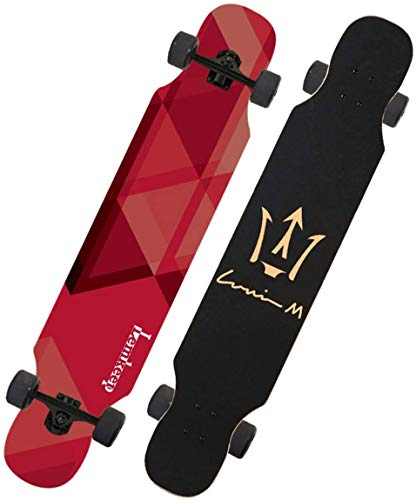 Xiaokang Skateboard Male Generation Girl 4 Rueda Scooter Road Skateboard Dance Book Brush Street Principiante,F
