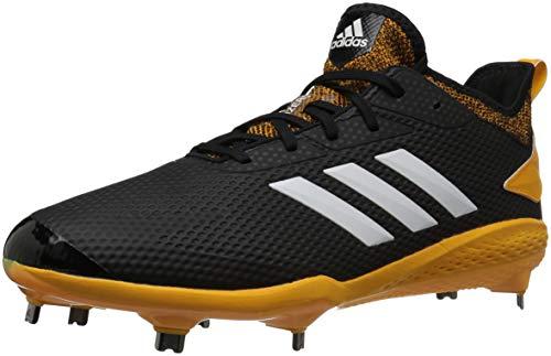 adidas Herren Adizero Afterburner V Baseballschuh, Schwarz (Schwarz/Wolke Weiß/Collegiate Gold), 47 EU