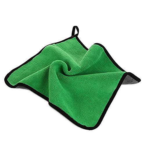 RVSDB Toalla de microfibra para lavado de autos para limpieza de coche paño de cuidado de pintura toalla de lavado de coche cuidado de detalles del coche (color: verde, material: 30 x 40 cm)