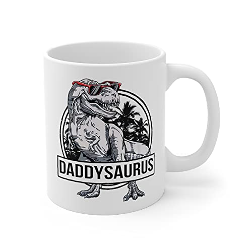 Daddy Mug - Daddysaurus T-Rex Dadddy Saurus Dinosaur Dad Papa Family Matching Cup For Mother's Day/Father's Day - Family Coffee Mug 11oz