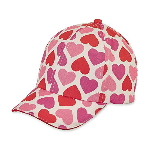 Sterntaler Baseball-Cap für Mädchen mit Größenregulierung und Herzmuster, Alter: 12-18 Monate, Größe: 49, Rot
