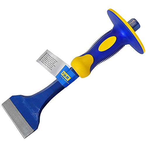 S&R Flachmeißel 275 x 75 mm aus CHROM-VANADIUM Stahl mit Handschutz | Meissel | Handmeissel | Spatmeißel | Brechstange | Stemmeisen