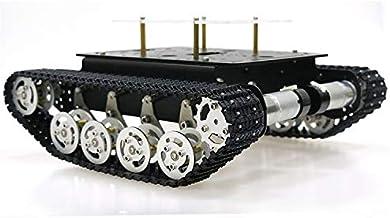 SZDoit Professional Tank Car Chassis Kit TS100 for Arduino / Raspberry Pi, Smart Shock Absorption Robot DIY STEAM Educatio...