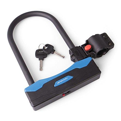 Provelo Fietsslot in zwart, solide beugelslot voor de fiets voor de optimale veiligheid, slot incl. houder en twee sleutels