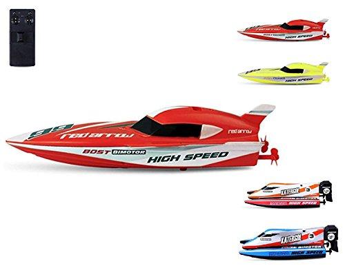 RC op afstand bestuurde mini speedboot met geïntegreerde accu, complete set incl. afstandsbediening, RC boot, RC boot, nieuw, in originele verpakking