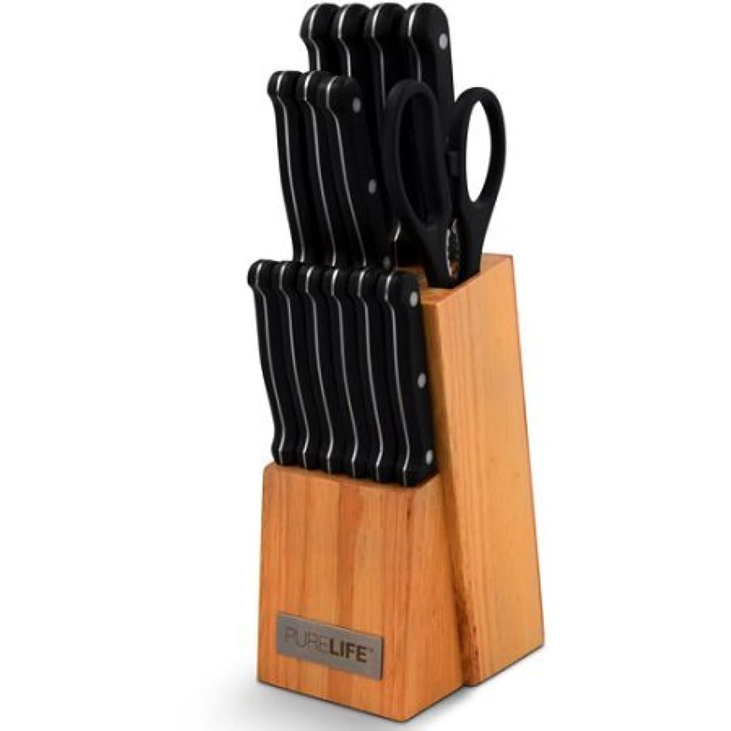 PureLife 15-Piece Knife Block Set