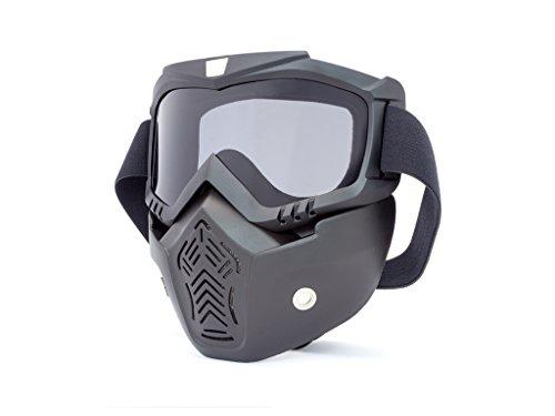 Motorrad Voll Gesichts Maske & Brille mit Remasuri Gläser für Jethelm Helme