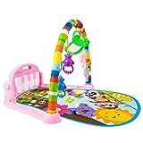Gelentea - Tappetino da gioco per bambini 0-3-6-12 mesi, per attività nella giungla e palestra, tappetino per la pancia con pianoforte