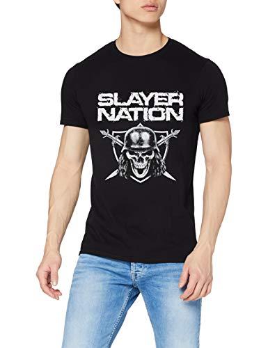 Rockoff Trade Herren Slayer Nation T-Shirt, Schwarz, S