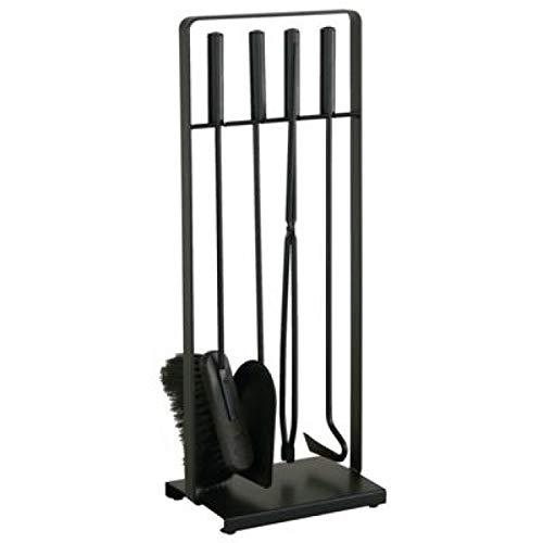 Heibi Kaminbesteck 52314-025 aus Stahl 4-teilig schwarz