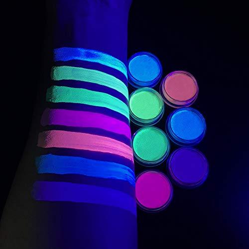 Water Activated UV Reactive Pastel Cake Eyeliner, ONMAY 7 Color Aqua Eye Liner UV Glow Blacklight Body Face Paint Makeup-Pastel Bundle