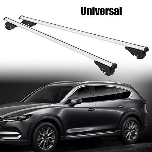 Gootop Universal-Dachträger aus Aluminiumlegierung, mit Diebstahlsicherung, für Auto, maximale Tragkraft 150 kg (130 cm)