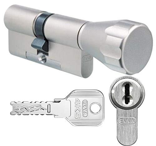 con 3/llaves reversible y ergonom/ía de mango, 1/pieza, K30//35, niquelado mate, BM5030//–/0005 Basi BM Cilindro de perfil Cerradura