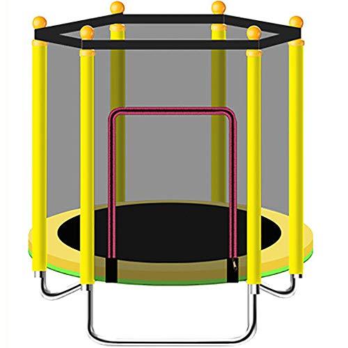 Indoor of Outdoor Trampoline Oefening - 1,2 M opvouwbare trampoline, gemakkelijk te dragen, kan in de kofferbak worden geplaatst, kan ook buiten worden gebruikt 1.2m Geel