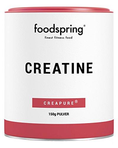 foodspring Creatine Pulver, 150g, Reines Creatin Monohydrat für Muskelwachstum, Kraft und Ausdauer
