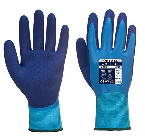 Portwest AP80 Flüssigkeit Pro Handschuhe Aqua Latex wasserfest voll ummantelt - 11 / XXL