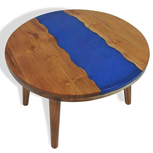 binzhoueushopping Table Basse en Teck Résine Table Basse Moderne Haute qualité 60 x 40 cm Table Basse Design