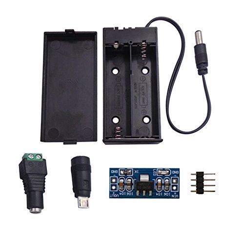 DSD TECH 18650 Batteriehalter mit eingebauten 2 Steckplätzen für Arduino und DIY