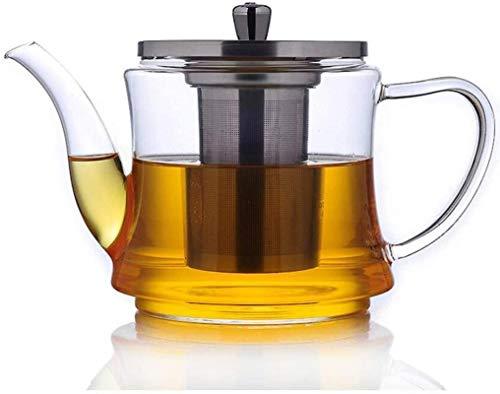 Estufa transparente filtro de tetera de vidrio tetera resistente al calor agua hirviendo gas directo especial para cocina de inducción 6.5 * 1 * 11 cm