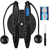 Electronic Counting Jump Rope, Adjustable Fitness Jumping Rope with Electronic Time Calorie Counter,...