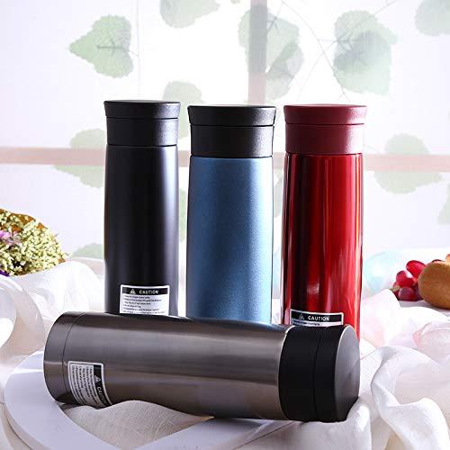 dongzhifeng Borraccia Termica Bottiglia di Vuoto 400ml Bottiglia di boccetta di Boccale di Sport all'Aria Aperta Bottiglia di Acqua isolata