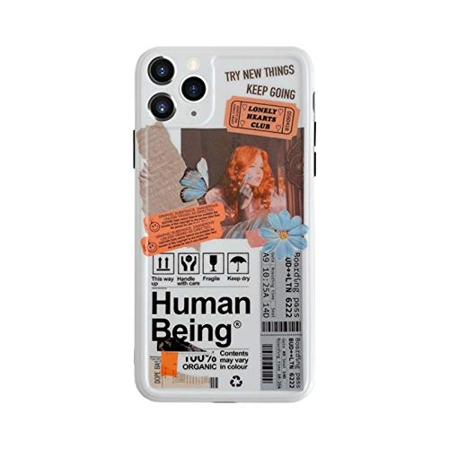 YLFC Funda De Teléfono con Ilustración De Mariposa Y Flores De Arte Retro para iPhone 11 Pro MAX XR X XS MAX 7 8 Puls SE 2020, Funda De Silicona Suave (Color : A, Size : For iPhone 11Pro MAX)