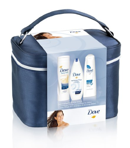 Dove Reich haltige Cuidado Beauty Case Incluye Body Milk 400ml y ducha 250ml y 2in1shampo 250ml, 1er Pack