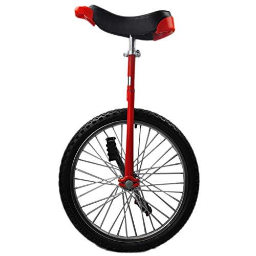 Lqdp Einrad Anfänger 18\'\' Rad Einräder mit Verstellbarem Sattel, Große Kinder/Jugendliche/Kleine Erwachsene Uni-Fahrrad mit Alufelge, Einfach Zu Montieren (Color : Red)