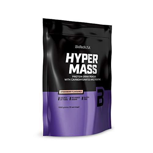 BioTechUSA Hyper Mass Trinkpulver mit Kohlenhydraten, Protein und Kreatin, hohem Ballaststoffgehalt, ohne Zuckerzusatz, 1 kg, Vanille