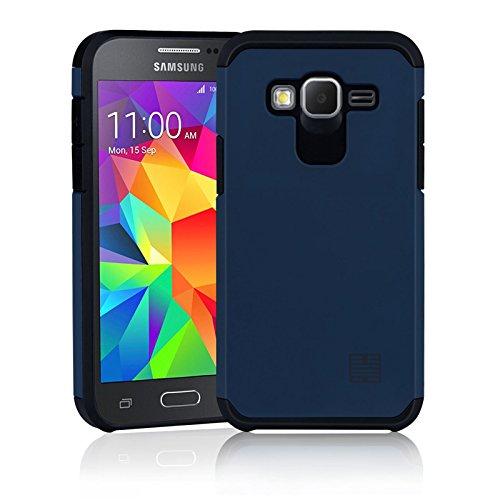 32nd Slim Armure Series - Coque Impact Slim Armure Antichoc pour Samsung Galaxy Core Prime, Housse de Protection Technologie de Coussin dair aux Bords - Slate Blue