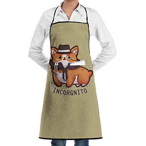 HYUS Tablier de Cuisine Mignon Corgi Incognito pour Hommes et Femmes Tabliers de Barbecue pour Barbecue