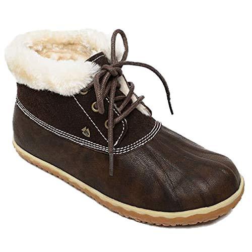 Minnetonka Women's Tega Indoor and Outdoor Bootie Slippers 9 M Dark Brown