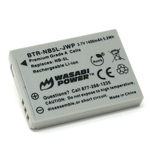 Wasabi Power–Batería para Canon NB-5L y Canon Powershot S100, S110, SD700IS, SD790IS, SD800IS, SD850IS, SD870IS, SD880IS, SD890IS, SD900is, SD950IS, SD970IS, SD990IS, SX200IS, SX210IS, SX210IS, SX230HS
