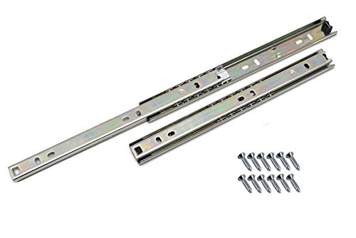 Schubladen-Schiene, Kugellager, H27, 400mm, 2 Stück