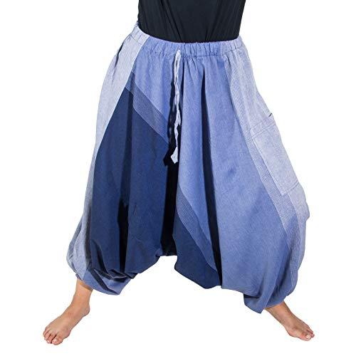 KUNST UND MAGIE Unisex Haremshose OneSize mehrfahrbig, Größe:One Size, Farbe:Hellblau