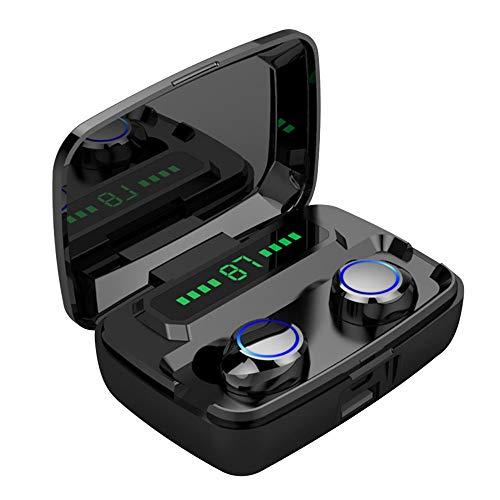 Auriculares Deportivos Inalámbricos Bluetooth, para Los Oídos Antisudor Estéreo De Graves con Micrófono, Auriculares con Cancelación De Ruido para Hacer Correr Y Estar En Forma