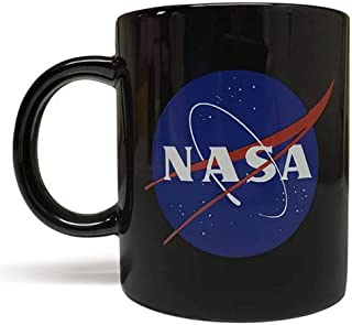 NASA 11oz Ceramic Mug (Black) - Artwork on Both Sides - Top Quality Ceramic - Foam Box Protection - Perfect Space/Science Gift