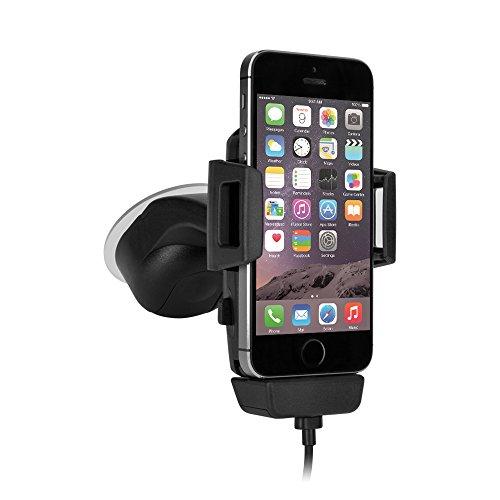 iGRIP T5-1800 Dock Kit - Universal Halterung mit Lademöglichkeit - z. B. Apple iPhone 7/8 (Plus)/SE, Samsung Galaxy, Google Pixel Serie [Made in Germany I 360 Grad drehbar I vibrationsfrei]
