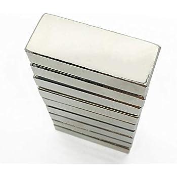 Nichel Blocco magnetico 40 x 10 x 5mm Neodimio N42 5 pezzi forza 8 kg