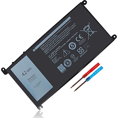 LXHY WDX0R 11.4V 42Wh Laptop Battery Compatible with Dell Inspiron 15 5567 5568 5578 Inspiron 13 5368 5379 17 5767 5765, Latitude 3180 3189, 3 Cells Replacement CRH3 T2JX4 FC92N PRO-D1708TS