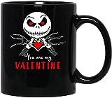 N\A #Jack Skellington You Are My Valentine The Nightmare Before Christmas Tazza con Manico, Tazza da caffè Riutilizzabile in Ceramica isolata, Tazza da Viaggio per caffè