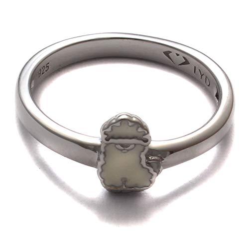 Kinderring Alpaka lustig, 925 Sterling Silber, Kinder Ring nickelfrei, Kinderschmuck Zoo kawaii, Kinder Schmuck Tier Lama
