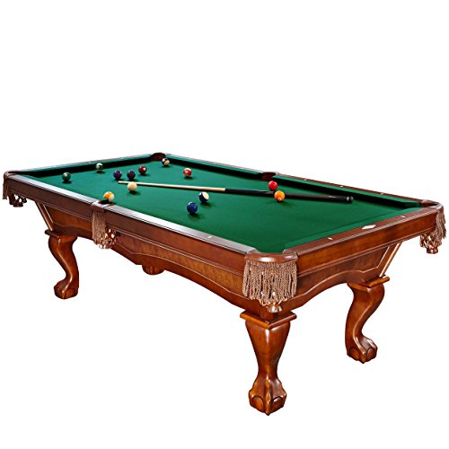 Brunswick 8 Foot Danbury Pool Table with Green Contender Cloth and Play Kit: Billiard Ball Set,...