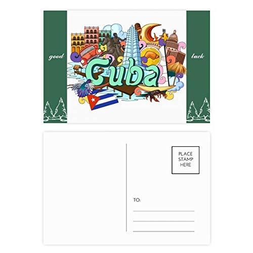 Guantanamo Trinidad Cuba Graffiti Veel geluk Postkaart Set Kaart Mailing Zijde 20 stks