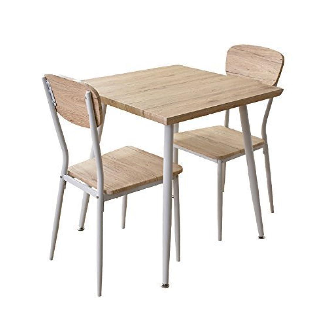 大通り記憶最も早いDORIS ダイニングテーブル 3点セット 幅70 テーブル&チェア 組立式 ナチュラル ウォーム